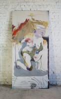 SP as Danaë, 2018, 200 x 95 cm, oil and acrylic on canvas