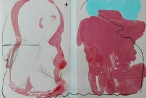had it been a screenprint, 2016, mixed media on paper, 44 x 20 cm