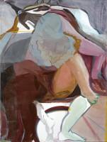 Pelvis Head 1,  2015, distemper and graphite on canvas, 140x105 cm