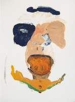 Eater, 2013, mixed media on paper, 40 x 30 cm