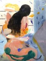 Japanese Orgy, 2021 oil, acrylic and distemper on canvas 106 x 80 cm